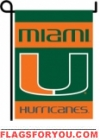 Miami Hurricanes Double Sided Garden Flag