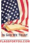 In God We Trust Garden Flag