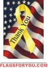 Thank You Troops House Flag
