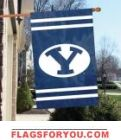 "Brigham Young Cougars Applique Banner Flag 44"" x 28"""