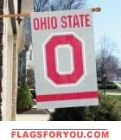 "Ohio State Buckeyes ""O"" Applique Banner Flag 44"" x 28"""