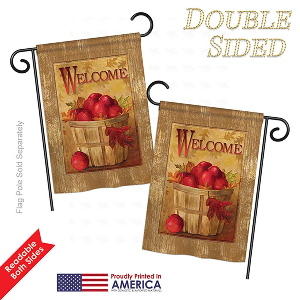 Welcome Apple Basket Garden Flag & more garden flags at FlagsForYou.com