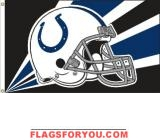 last 3 - INDIANAPOLIS COLTS HELMET DESIGN 3X5 FLAG