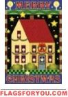 Merry Christmas Salt Box House Flag - 4 left