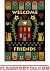 Pennyrug Welcome Friends Garden Flag - 1 left