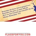 Always Remember 911 High Wind, US Made Flag 3' x 5'
