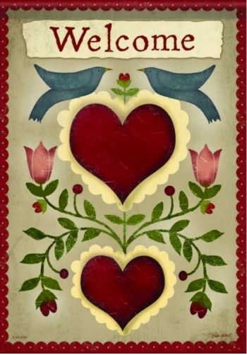 Country Hearts House Flag