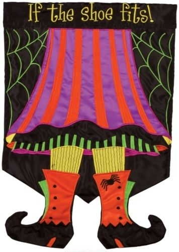 Witch Feet Applique Garden Flag