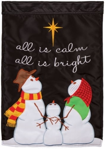 All Is Bright Applique House Flag