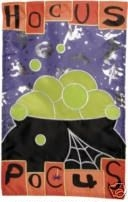 applique Halloween Magic Hocus Pocus Garden Flag - 1 left