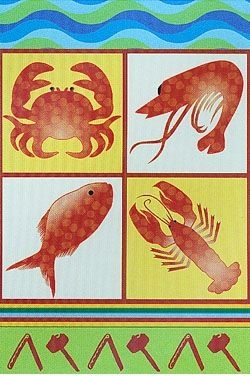 Seafood Lobster and Crab Feast Garden Flag - 6 left