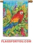 Pretty Parrot House Flag - 1 left