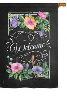 Blooming Welcome House Flag