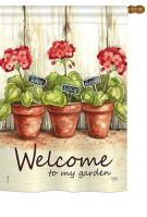Welcome To My Garden House Flag