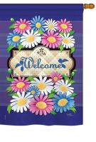 Daisies Welcome House Flag