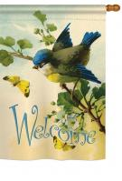 Welcome Birds House Flag