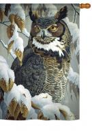 Great Horned Owl House Flag