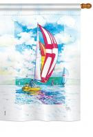 Sailboats House Flag