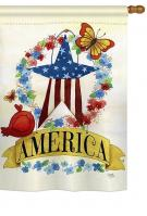 America Banner Star House Flag