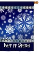 Let It Snow Dream House Flag