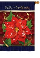 Poinsettia Love House Flag