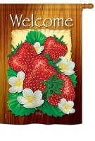 Welcome Strawberries House Flag