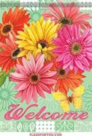 Gerbera Garden House Flag