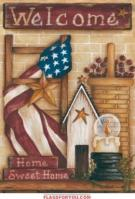 Sweet Home Americana House Flag