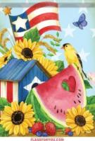Patriotic Summer House Flag