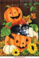 Happy Halloween Kitty Garden Flag