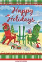 Holiday Beach Chairs Garden Flag