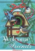 Winter Birdhouse Garden Flag