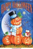 Top Hat Pumpkin Garden Flag