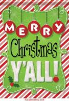 Christmas Y\'all Garden Flag