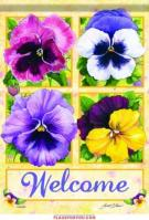 Pansy Welcome House Flag