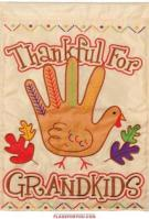 Turkey Hand Applique Garden Flag