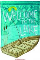 Welcome To Lake Applique House Flag