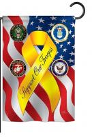 Support Our Troops Freedom Garden Flag