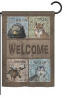 Wilderness Welcome Garden Flag