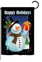 Holiday Snowman Garden Flag