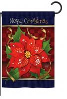 Poinsettia Love Garden Flag