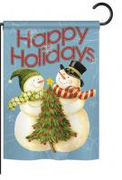 Happy Holidays Tree Garden Flag