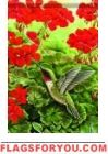 Hummingbird Splendor Garden Flag