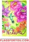 Hummingbird Bloom Garden Flag