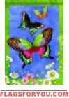 Butterfly Trio Garden Flag