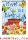 Cherish Simple Blessings Garden Flag