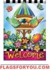 Birds So Bright Glitter Garden Flag