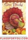 Thankful Turkey Garden Flag