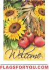 Sunflowers & Apples Garden Flag