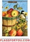 Chickadees & Apples House Flag